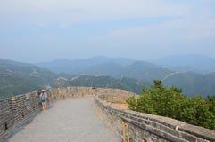 Grande Muraille des montagnes de la Chine Photos libres de droits