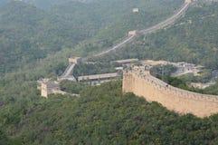 Grande Muraille des montagnes de la Chine Photo libre de droits
