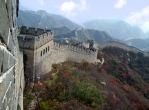 Grande Muraille proche vers le haut en automne Image stock