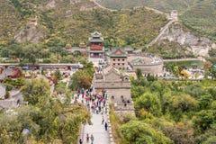 Grande Muralha de China em um dia nebuloso Imagens de Stock Royalty Free