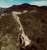 Grande Muralha de China no verão imagens de stock royalty free