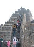 Grande Muralha de Jinshanling do chinês Foto de Stock
