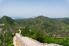 Grande Muralha de Simatai perto da cidade da água do gubei no Pequim China, G fotografia de stock royalty free