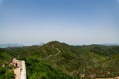 Grande Muralha de Simatai perto da cidade da água do gubei no Pequim China, G fotografia de stock