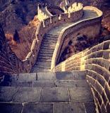 Grande Muralha do conceito chinês da cultura do curso de China fotografia de stock