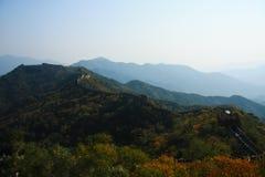 Grande Muralha nos montes Fotografia de Stock