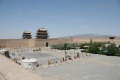 Grande Muralha ocidental de Jia Yu Guan, estrada de seda China Fotografia de Stock Royalty Free