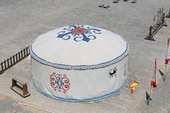 Grande Muralha ocidental de Jia Yu Guan, estrada de seda China Foto de Stock