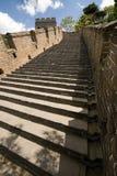 Grande Muralha restaurado de Mutianyu das etapas, Beijing, China Imagens de Stock Royalty Free
