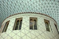 Grande museo dei britannici della corte Immagine Stock Libera da Diritti