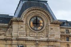 Grande museo di Orsay degli orologi Immagine Stock Libera da Diritti