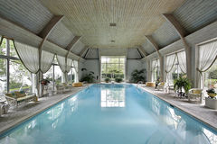 grande natation d'intérieur de regroupement Photo libre de droits
