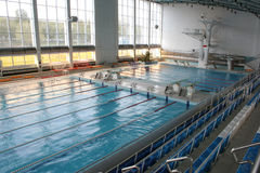 grande natation moderne de regroupement Image libre de droits