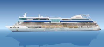 Grande nave da crociera royalty illustrazione gratis