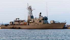 Grande nave di battaglia Fotografia Stock