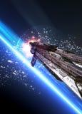 Grande nave espacial ilustração do vetor