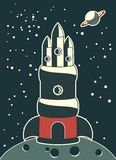 Grande nave espacial Foto de Stock Royalty Free