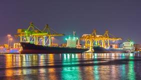 Grande nave porta-container Fotografia Stock