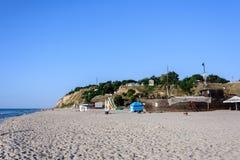 Grande nave-ristorante sulla costa di Mar Nero in Ucraina fotografia stock