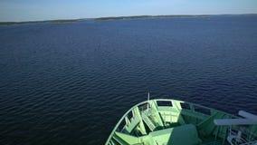 Grande navigação marinha da balsa no mar Báltico Lapso de tempo filme