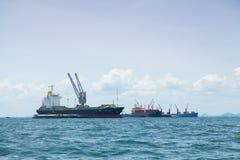 Grande navio de carga. Foto de Stock