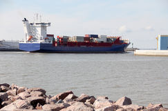 Grande navio de carga Imagem de Stock