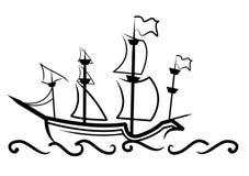 Grande navio inglês ilustração royalty free