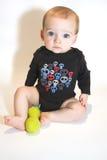 Grande neonato degli occhi azzurri Fotografia Stock Libera da Diritti