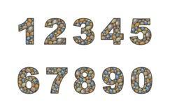 Grande numeral do seixo Foto de Stock Royalty Free