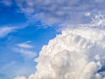Grande nuvola con cielo blu della Tailandia Fotografia Stock Libera da Diritti