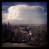 Grande nuvola di tempesta di estate Fotografie Stock Libere da Diritti