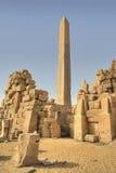Grande obelisk em Karnak imagem de stock royalty free