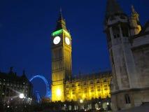 Grande occhio di Londra e di Ben Tower fotografia stock libera da diritti