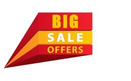 Grande offre de vente dans 3D illustration stock