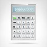 Grande oggetto metallico quadrato del calcolatore isolato Immagini Stock