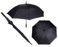 Grande ombrello nero Fotografia Stock Libera da Diritti