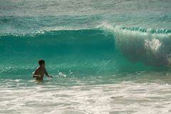 Grande onda. Fotografia Stock