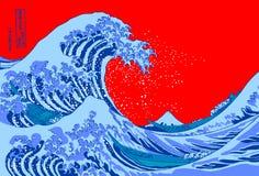 Grande onda Fotografia de Stock