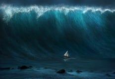 Grande onda illustrazione di stock