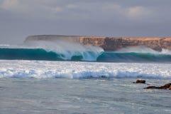 Grande onda blu Fotografie Stock