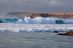 Grande onda di oceano Fotografie Stock Libere da Diritti