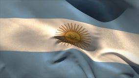 Grande ondeggiamento della bandiera nazionale dell'argentina Fotografie Stock