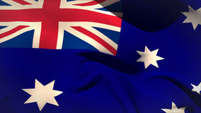 Grande ondeggiamento della bandiera nazionale dell'Australia Fotografie Stock
