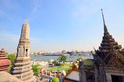 Grande opinião Chao Phraya River em Banguecoque Fotografia de Stock Royalty Free