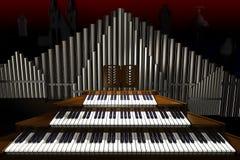 Grande organo. Fotografia Stock