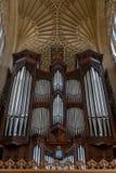 Grande organo della chiesa fotografia stock