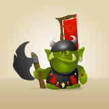 Grande ork del guerriero royalty illustrazione gratis