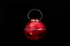 Grande ornamento rosso di natale Fotografie Stock