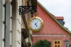 Grande orologio da tasca come il logo di un negozio I dell'orologio Fotografia Stock