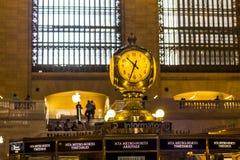 Grande orologio del terminale centrale Fotografia Stock